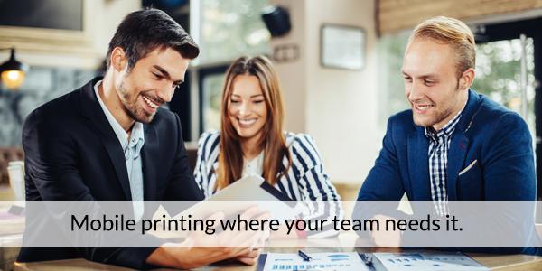 Mobile printing team